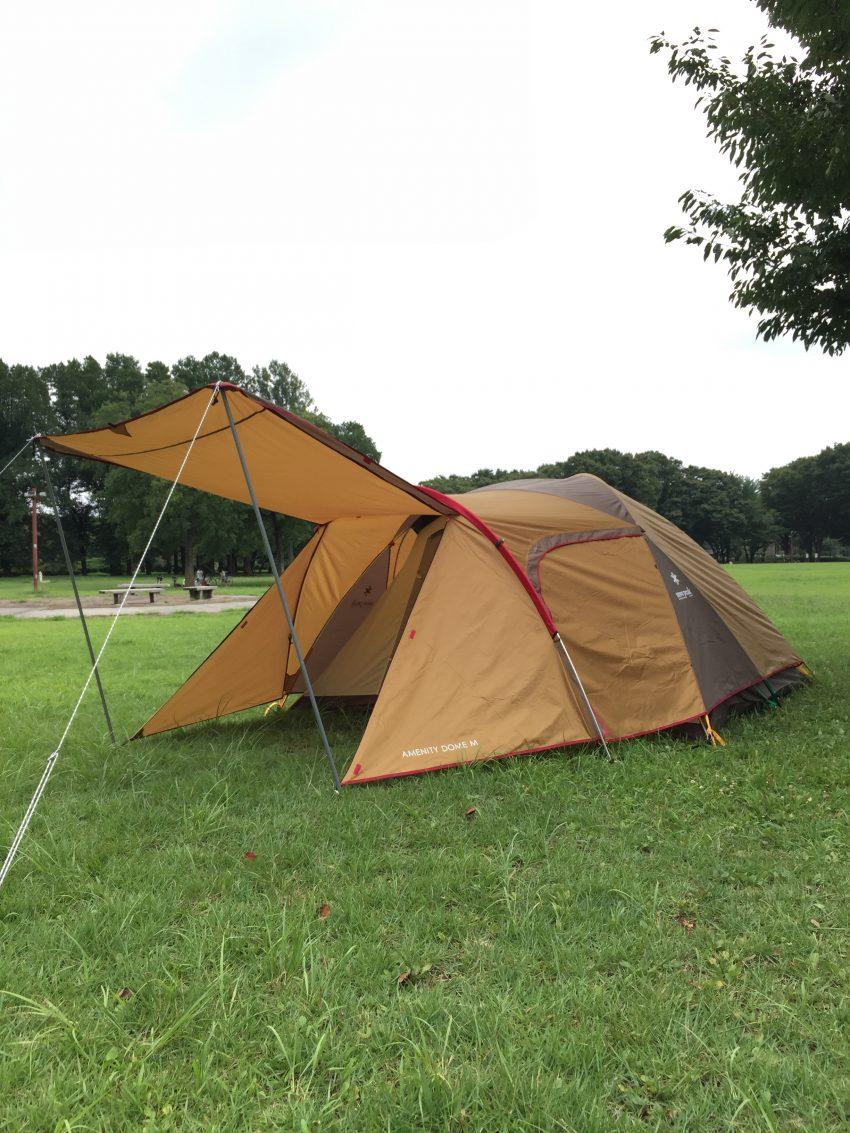 テントの設営練習