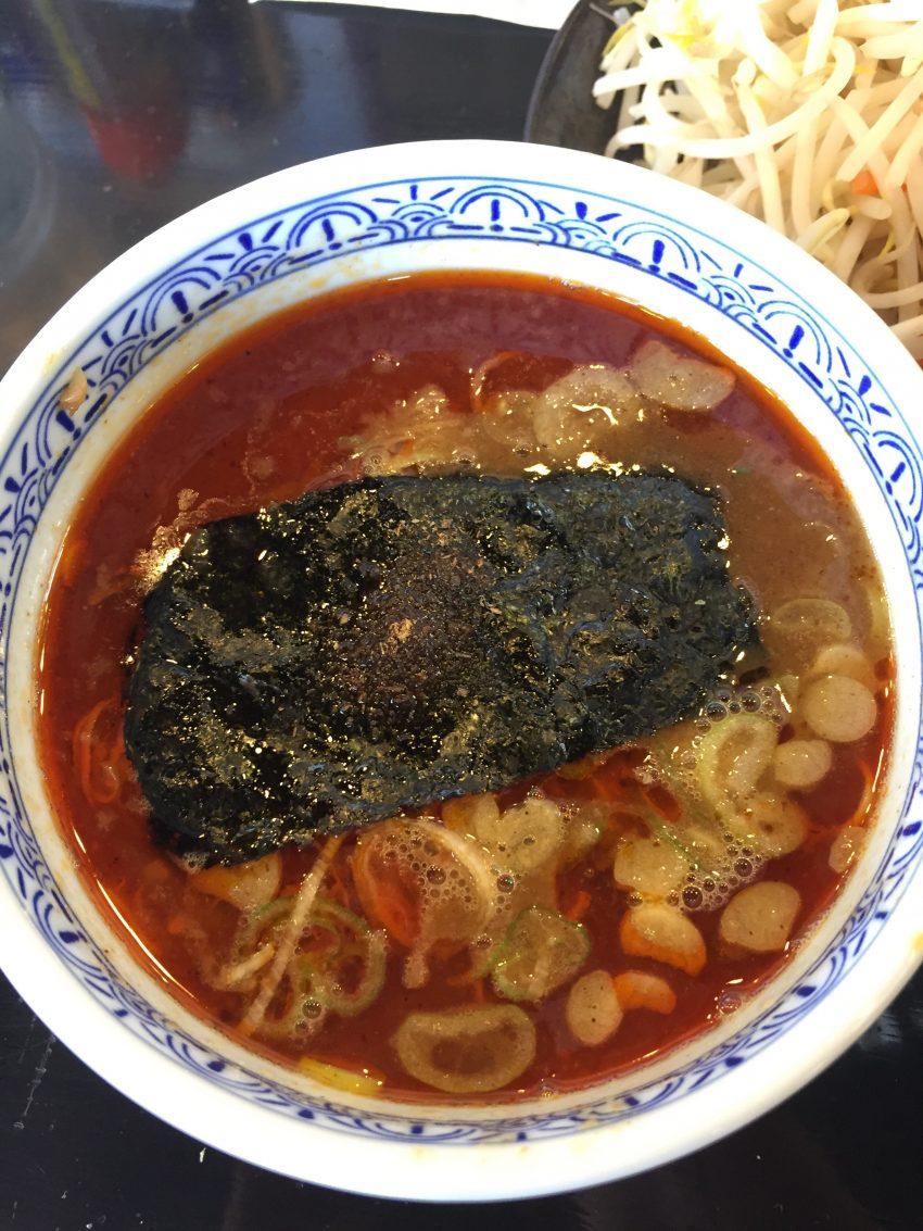 三田製麺所(国分寺並木店) 辛つけ麺&ちょこっと野菜