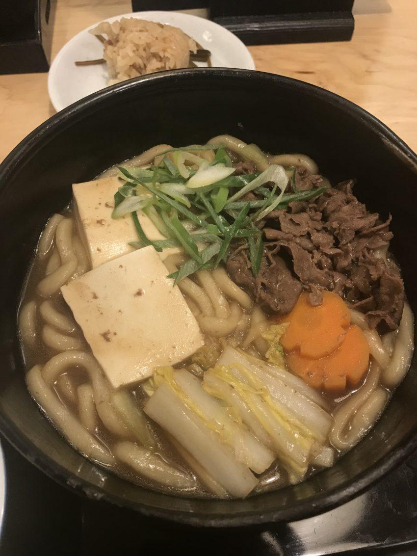 因幡うどん ソラリアステージ店 すき焼きうどん定食