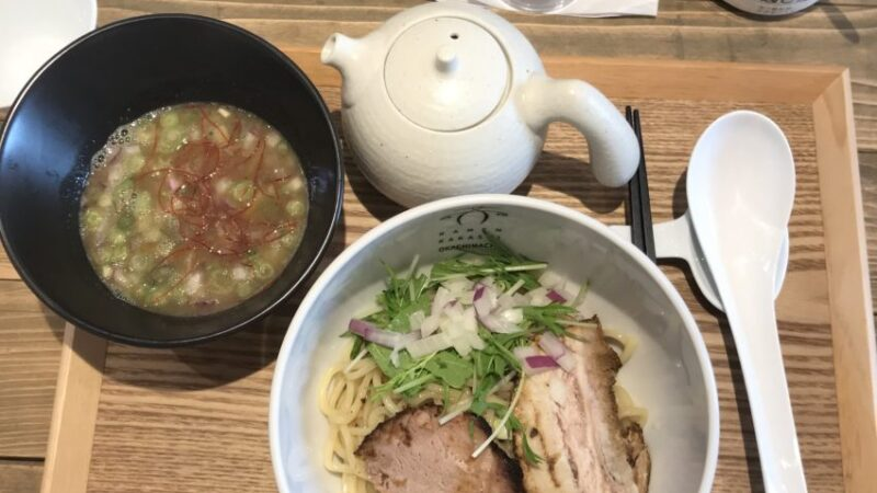 案山子 – 煮干しつけめん(ゆず風味)