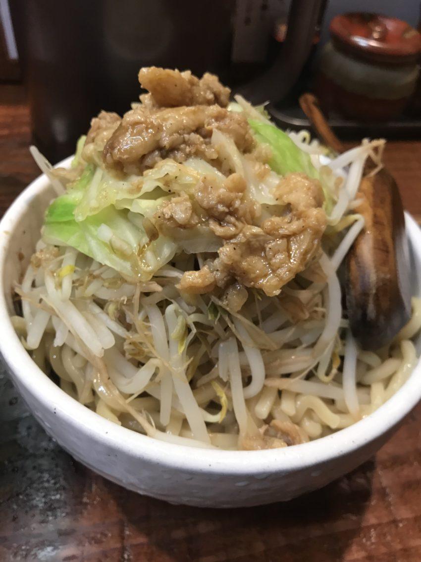 麺処井の庄 立川 辛辛魚つけめんジロベジのせ 太麺